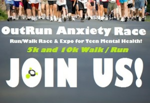 OutRun Anxiety 5k/10k Walk Run Race for Teen Mental Health and Wellness Expo Party