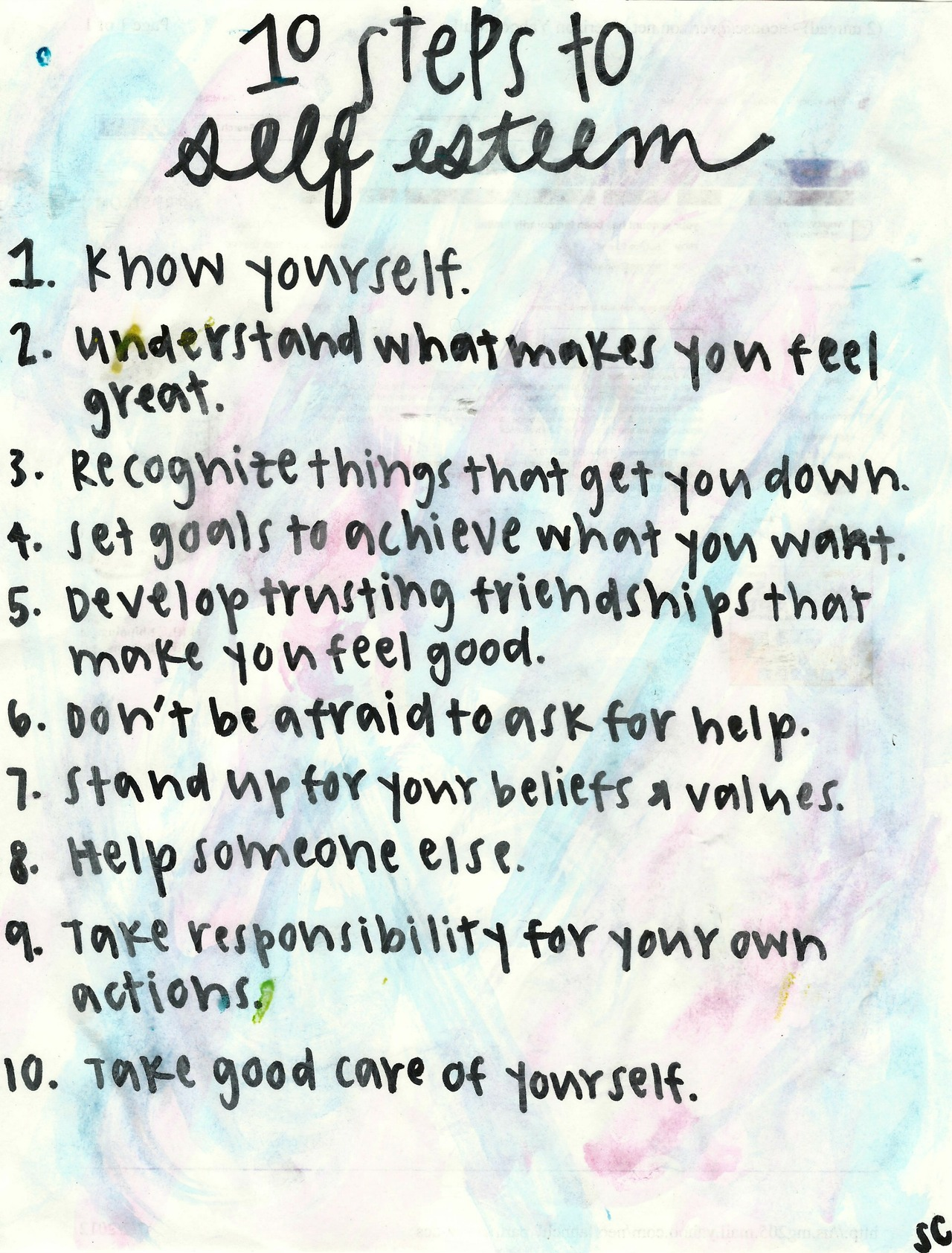 Quotes About Self Esteem 10 Steps To Self Esteem