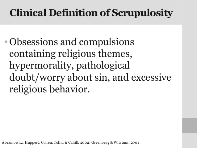 Scrupulosity Defined
